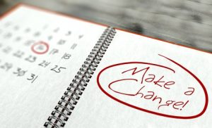Make a change important day calendar concept